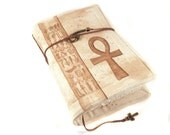 Ankh, Handmade journal, painted notebook