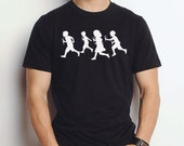 RUNNING WITH SCISSORS - mens / unisex short sleeve t shirt - 4 Color Choices
