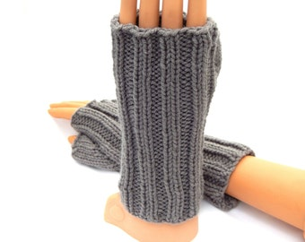 Hand Knit Arm Warmers Fingerless Gloves Texting Gloves