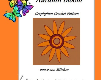 Autumn Bloom - Graph Chart and Written Instructions