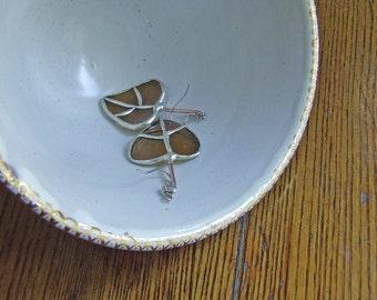 Italian Amber Glass Bottle - Aspen Leaf Earrings - Mother's Day Gift - Nature Inspired Jewelry