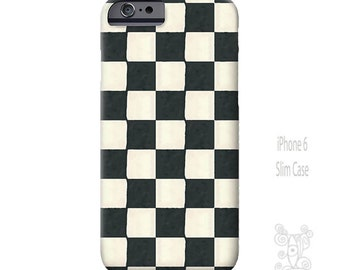 Black and white iPhone case, Checkered iPhone case, iPhone 6s Case, Art, iPhone 6 case, iPhone 7 case, iPhone 6s Plus, Galaxy S7 Case