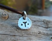Rune Pendant Charm Personalized Silver Nugget Runic