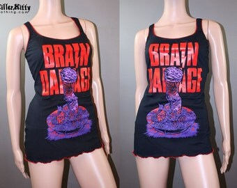 Brain Damage 80s Horror Movie Tank Top