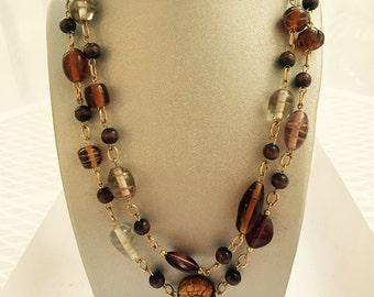 Warm Shades Wrap Necklace