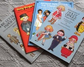 Collection of 4 uncut books of paper dolls-dolly dingle, lettie lane, and dolls from the edwardian era