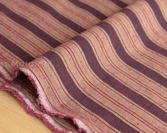 Japanese Fabric - yarn dyed tsumugi stripes - 50cm