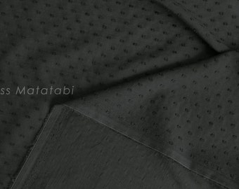 Japanese Fabric Swiss Dots - cotton lawn - black - 50cm
