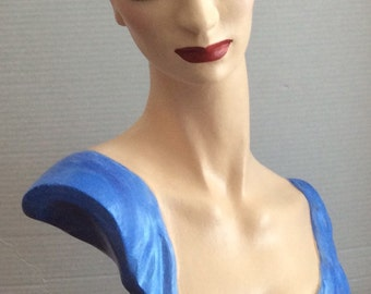 Styrofoam Mannequin Head - Hand Painted
