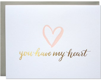 My Heart Foil Card