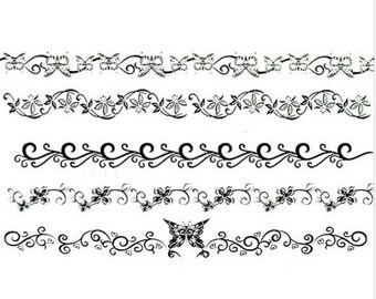 1pc 5 patterns temporary tattoo sticker-8570A