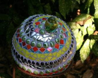 Mosaic Garden Sphere -- OOAK