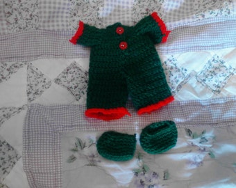 Green Pajama For My 6.5in Curly Girl Dolls