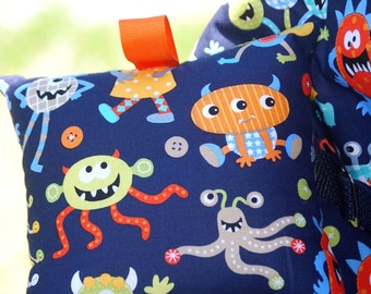 Shopping Cart Covers - Infant Shopping Cart Cover for  Baby Boy or Girl -   Monsters  Mash in Navy