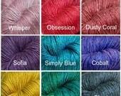 Hand-Dyed Fingering Weight Yarn (Merino/Silk, 440 yards/100 gram) FREE SHIPPING