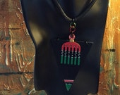Unisex Afrocentric Wood Pendant Necklace