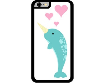 Phone Case - Narwhal - Hard Case for iPhone 4, 4s, 5, 5s, 5c, SE, 6, 6 Plus, 7, 7 Plus - iPod Touch 4, 5/6 - Galaxy