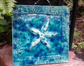 Stunning, STARFISH Tile in Carribean Blue