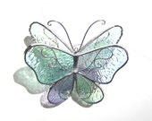 You Pick Any Color and Size - 3D Stained Glass Butterfly Twirl - Suncatcher Home Garden Hanging Ornament Home Decor Wings (MADE TO ORDER)