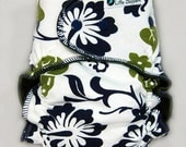 One Size Cloth Diaper OS AI2 Wind Pro Cloth Diaper - Aloha - Hawaiian All in Two One Size Cloth Nappy