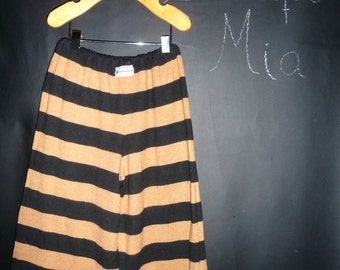 UPcycled and REcycled - Children sweater Pants - Will fit a size 3T to 4T - by Boutique Mia and More - Ready To Ship