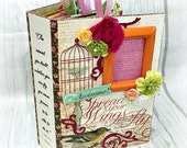 Spread Your Wings and FLY  All Occasion Interactive Scrapbook Scrapbooking Chipboard Album Magnet Closures