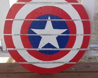 Captain America Sign made from recycled pallets/reclaimed wood