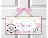 back2school SALE pink green blue FAIRY TALE Wooden Door Sign Hanger | Personalized Wood kids plaque | nursery decor | childrens wall art | d