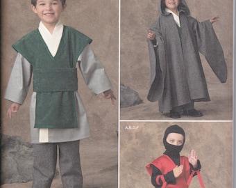Simplicity 1037 Ninja Karate Kung Fu Wizard Costumes Easy Sewing Pattern Sizes 3-8 NEW UNCUT