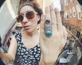 amber and turquoise power ring
