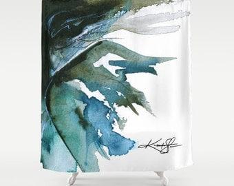 "Fairy Shower Curtain, Fairy Painting, Watercolor Art, ""Ariella"" Original Goddess Fairy Fantasy art painting by Kathy Morton Stanion  EBSQ"