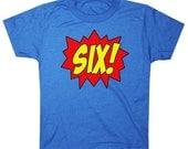 Youth SUPERHERO Sixth Birthday T-shirt - Royal Blue