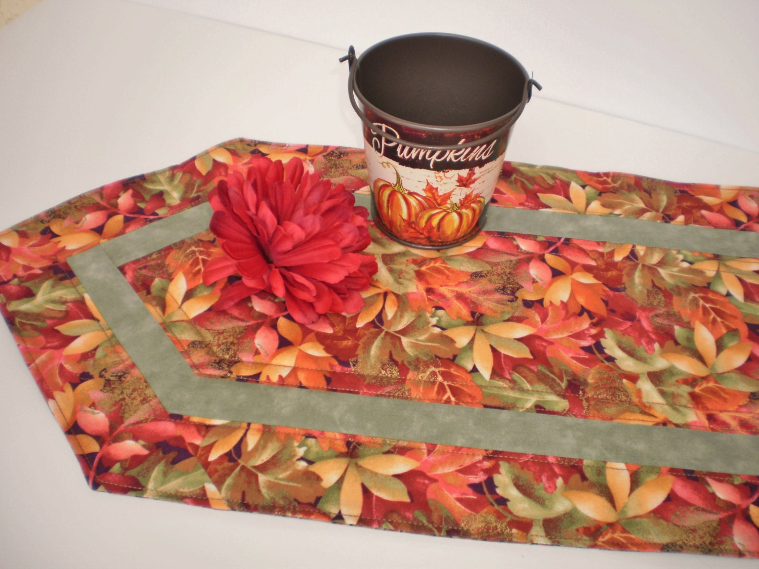 On Sale Quilted Runner Handmade Table Accent Home Decor Fall
