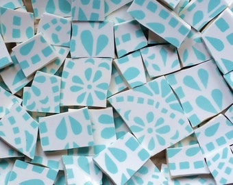 Mosaic Tiles--Seafoam/Crystalline--100 Tiles