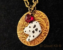 """DALMATIAN NECKLACE. Jewelry. """"I Heart"""" My Dog. Engravable Charm Pendant.Suitable for Engraving.Handpainted Dalmation Jewelry Gifts for Women"""