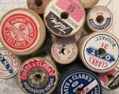 Wooden Spool Assortment - One Dozen Spools