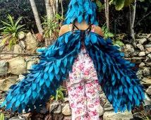 Kids Costume, Halloween Costume, Kids Halloween Costume, Blue Bird Costume, Bird Wings, Wings Costume, Blue Jay Wings, Pretend Play Toy