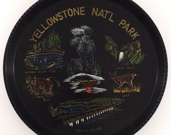 Vintage Souvenir Plate from Yellowstone National Park