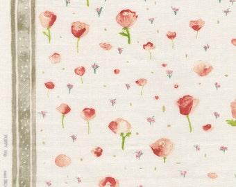 nani IRO Double Gauze Fabric - 2015 Poppy Trip, Ohanashi - Half Yard