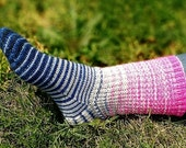 Material Girl Gradient Stripes Matching Socks Set, 2-50g Cakes, Greatest of Ease (dyed to order)