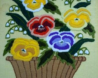 Pansy Needlework