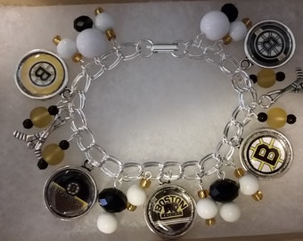 Boston Bruins Charm Bracelet