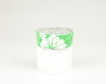 Jewelry Catcher Bowl Home Organization Ring Dish Quilted Trinket Bowl Lime Green Desk Accessory Under 20 Gift Fiber Art Gifts for Her
