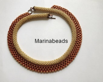"""Pattern  """"Bead crochet with superduo"""" necklace"""