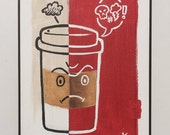 Bad Coffee - Original Art by Kevin Kosmicki