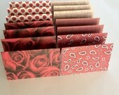 Mini Cards 14 Red Rose Woven Mix - blank for thank you notes 2 3/4 x 4 1/4