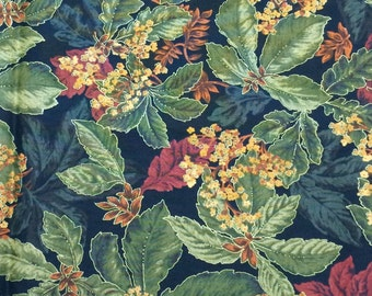Fall Leaves Fabric - 1 yard 35 inches x 42 inches