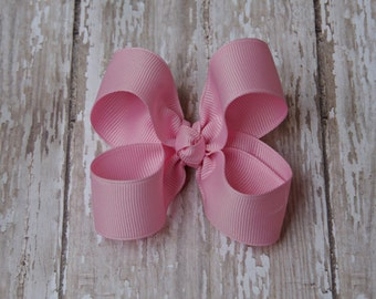 Pink Toddler Hairbow, 3 Inch Hairbow, Toddler Hair Bows, Non-Slip Hairbow, Alligator Clip Bow, Baby Hair Bow, Sale Bows, Bows