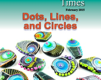 February 2015 Soda Lime Times Lampworking Magazine - Dots, Lines, and Circles - (PDF) - by Diane Woodall