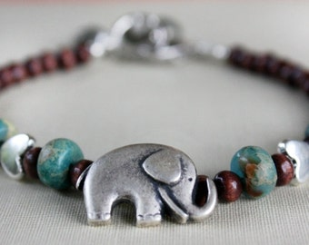Elephant Bracelet, Charm Bracelet, Heart, Animal lover, Silver bracelet, Gift For Her, Gift For Girlfriend, Gift Ideas